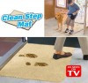Супервпитывающий придверный коврик с нескользящим основанием Clean Step Mat